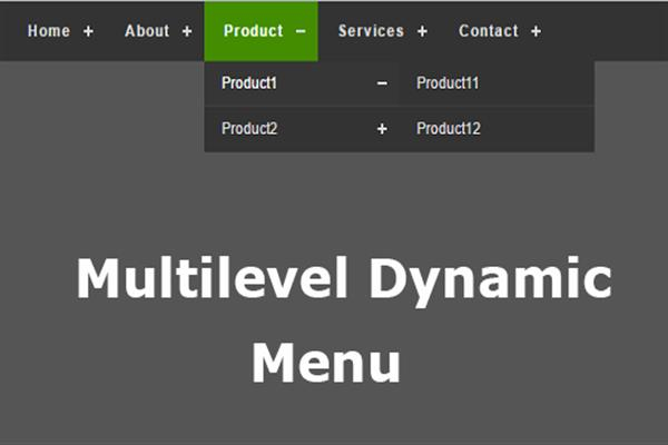 How to create multi-level menus dynamically in Asp net MVC