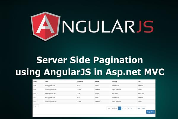 Server side pagination using AngularJs in Asp net MVC | Tutorial Links